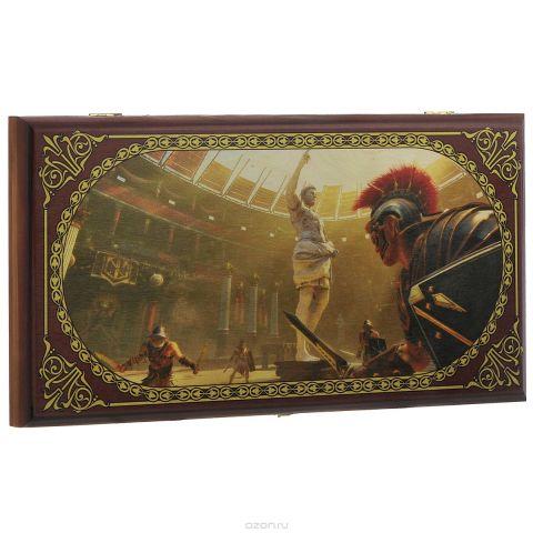 """Нарды малые Perfecto """"Аве Цезарь"""", размер: 40х40х4 см. 230s"""