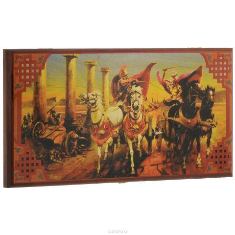 "Нарды малые Perfecto ""Гонки на колесницах"", размер: 40х40х4 см. 190s"