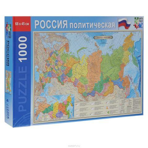 Политическая карта России. Пазл, 1000 элементов