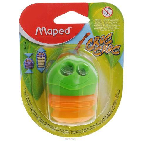 """Точилка Maped """"Сroc-Croc"""", цвет: зеленый, оранжевый"""
