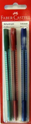 Faber-Castell Шариковая ручка Grip 2020 цвет красный синий зеленый 3 шт
