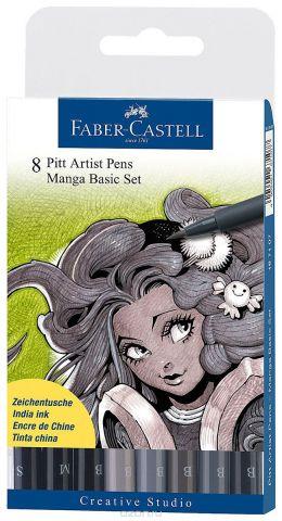 "Faber-Castell Ручки капиллярные ""Manga"", 8 цветов"