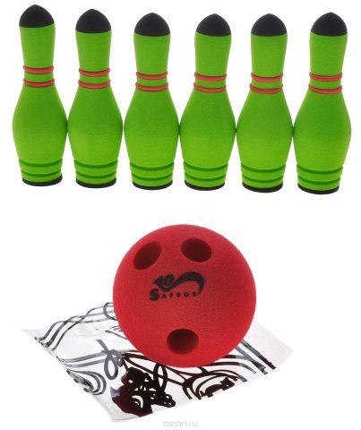 Safsof Игровой набор Мини-боулинг цвет зеленый красный