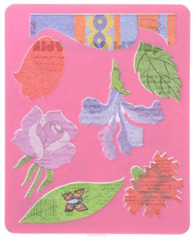 """Луч Трафарет """"Цветы садовые"""", цвет: розовый"""