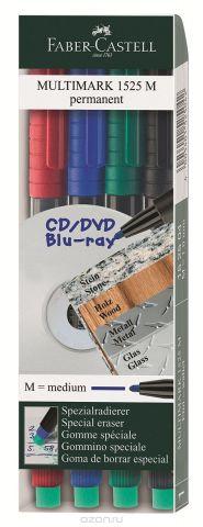 Faber-Castell Капиллярная перманентная ручка Multimark M для письма на CD 4 цвета