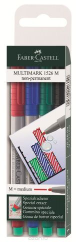Faber-Castell Капиллярная ручка Multimark M для письма на пленке 4 цвета