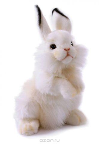 Hansa Мягкая игрушка Кролик цвет белый 32 см