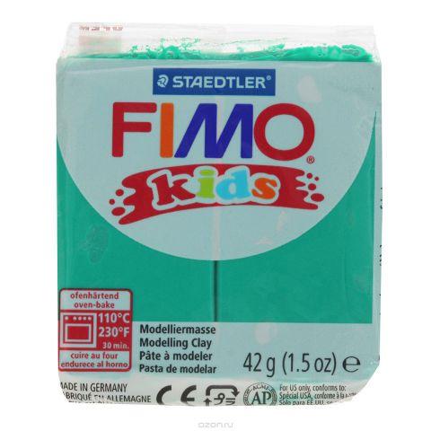 """Полимерная глина Fimo """"Kids"""", цвет: зеленый, 42 г"""