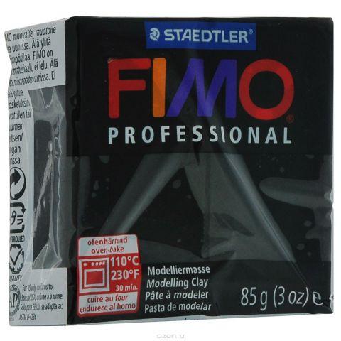 """Полимерная глина Fimo """"Professional"""", цвет: черный, 85 г"""