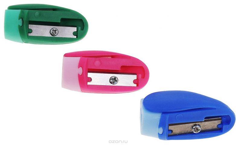 Erich Krause Набор точилок Joy цвет розовый синий зеленый 3 шт
