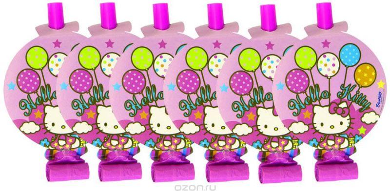 Веселая затея Язык-гудок с карточкой Hello Kitty 8 шт