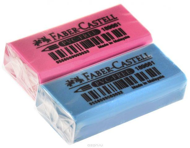 Faber-Castell Ластик флуоресцентный цвет розовый голубой 2 шт