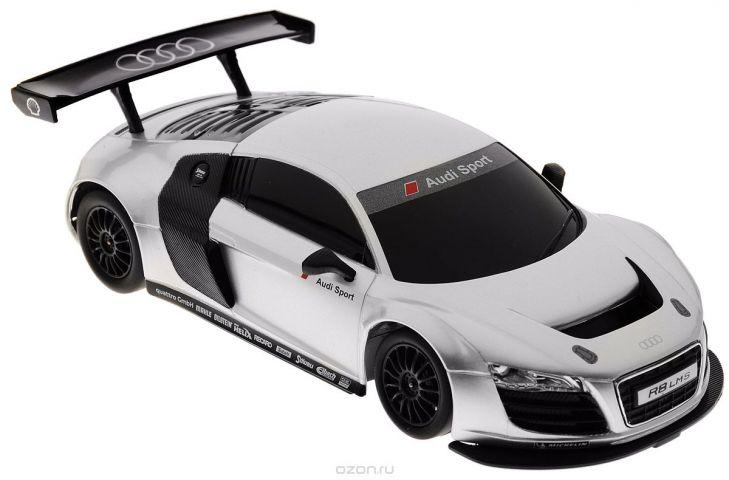 Rastar Радиоуправляемая модель Audi R8 LMS цвет серебристый черный