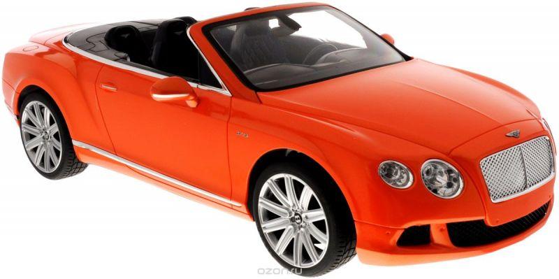 Rastar Радиоуправляемая модель Bentley Continental GT Speed Convertible цвет оранжевый масштаб 1:12