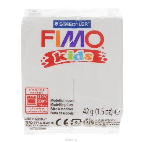 """Полимерная глина Fimo """"Kids"""", цвет: белый, 42 г"""