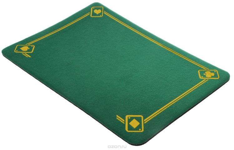 """Коврик фокусника с напечатанными тузами """"Di Fatta Magic"""", цвет: зеленый"""
