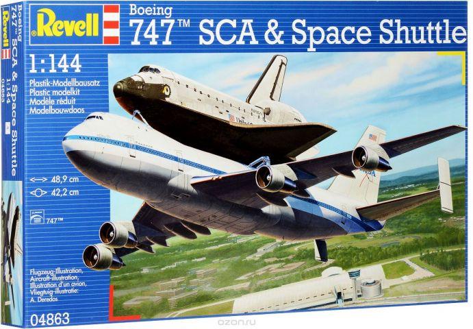Revell Сборная модель Самолет Boeing 747 SCA и космический корабль Space Shuttle