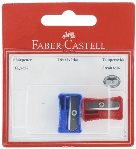 Faber-Castell Точилка цвет синий красный 2 шт