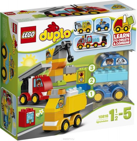 LEGO DUPLO Конструктор Мои первые машинки 10816