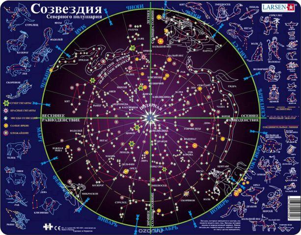 Larsen Пазл Созвездия Северного полушария