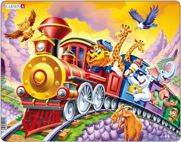 Larsen Пазл Поезд с цирком