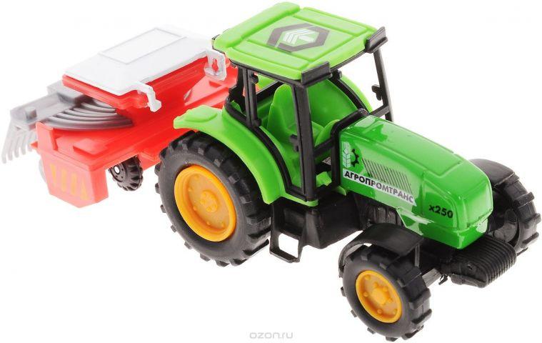 ТехноПарк Трактор Агропромтранс х250 с прицепом-сеялкой