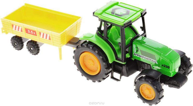 ТехноПарк Трактор Агропромтранс х250 с телегой