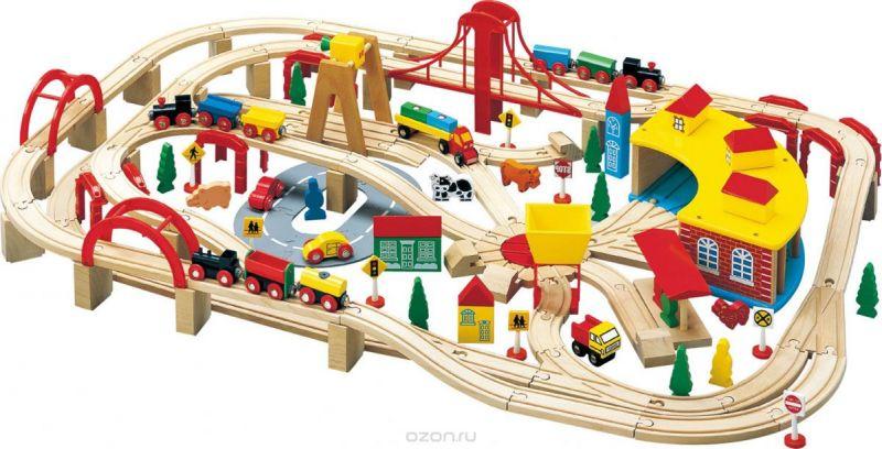 Balbi Деревянная железная дорога 145 деталей