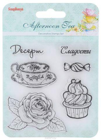 """Набор декоративных штампов ScrapBerry's """"Сладости. Десерт"""", 6 шт"""