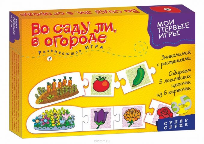 Дрофа-Медиа Развивающая игра Во саду ли в огороде