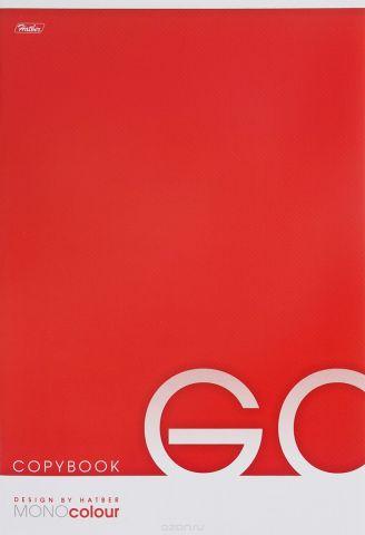 Hatber Тетрадь Mono Colour 96 листов в клетку цвет красный