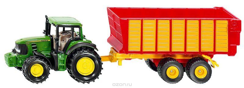 Siku Трактор John Deere с прицепом для силоса