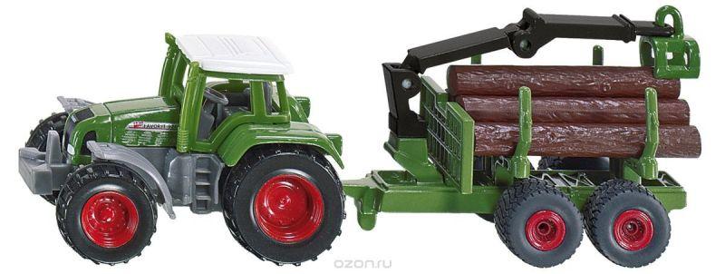 Siku Трактор Fendt c прицепом для бревен