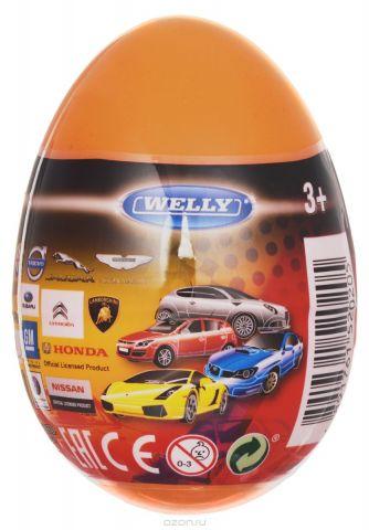 Welly Яйцо-сюрприз с машинкой цвет оранжевый