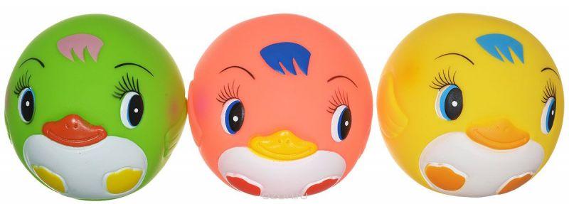 Курносики Игрушка для ванной Мячики-пингвины цвет желтый розовый салатовый 3 шт