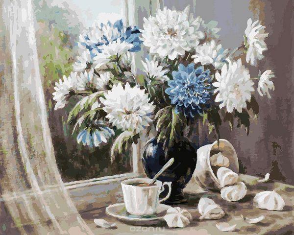 """Живопись на холсте Белоснежка """"Хризантемы - цветы запоздалые"""", 40 х 50 см"""