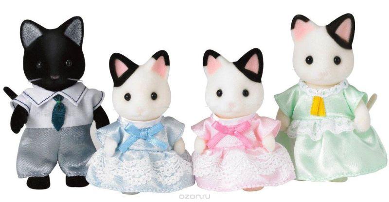 Sylvanian Families Набор фигурок Семья черно-белых котов
