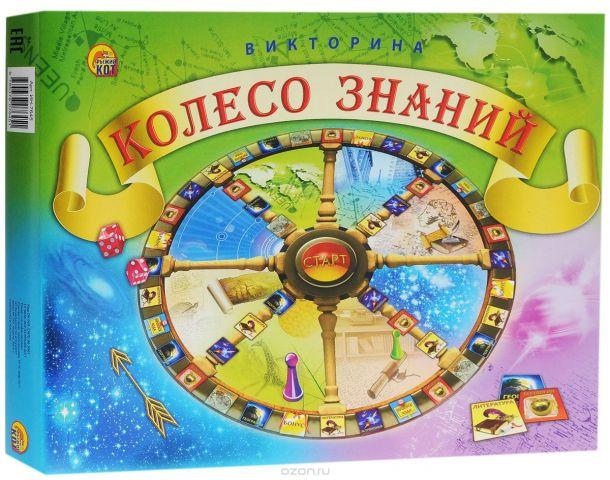 Рыжий Кот Настольная игра Викторина Колесо знаний