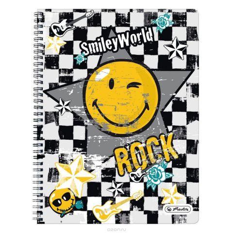 Herlitz Тетрадь Smiley Rock 70 листов в клетку