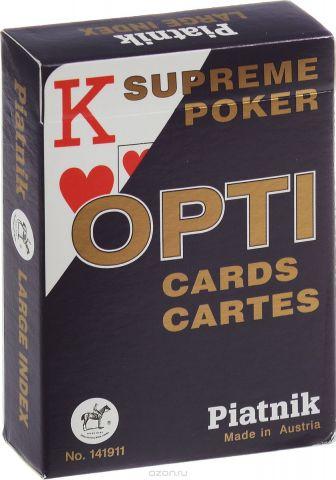 """Профессиональные игральные карты Piatnik """"Opti Poker"""", цвет: синий, 55 листов"""