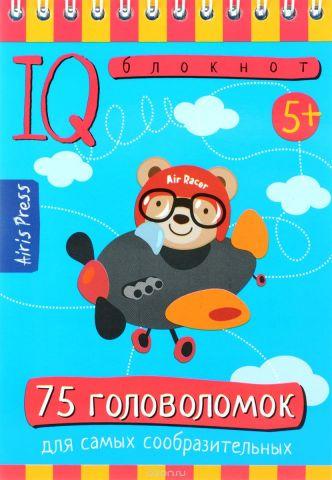 Айрис-пресс Обучающая игра Умный блокнот 75 головоломок