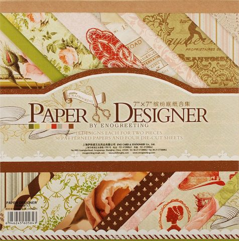 """Набор бумаги для скрапбукинга Белоснежка """"Французское путешествие"""", 17,5 x 17,5 см, 36 листов"""