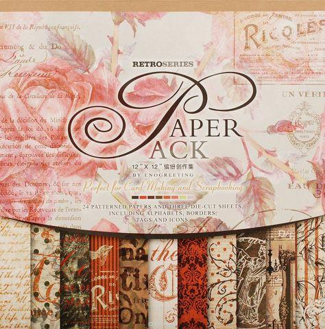 """Набор бумаги для скрапбукинга Белоснежка """"Королевские розы"""", 30,5 x 30,5 см, 24 листа"""