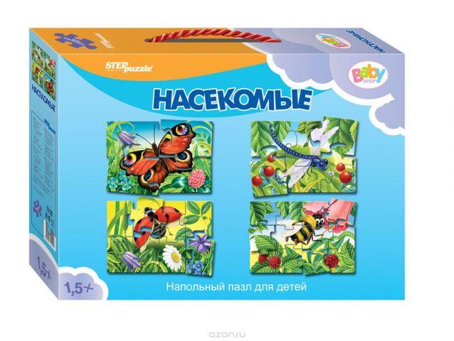Step Puzzle Пазл для малышей Насекомые 4 в 1