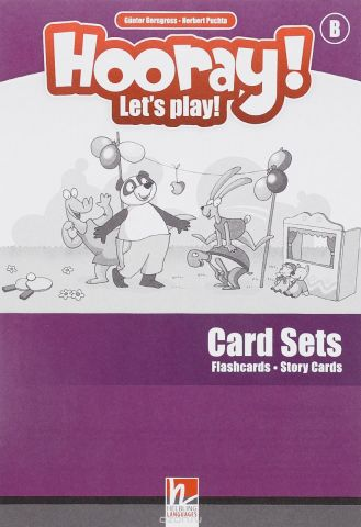 Hooray! Let's Play! - B Card-Sets (Flashcards+Story Cards)