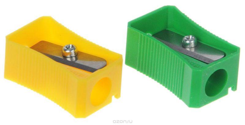 Faber-Castell Точилка цвет зеленый желтый 2 шт
