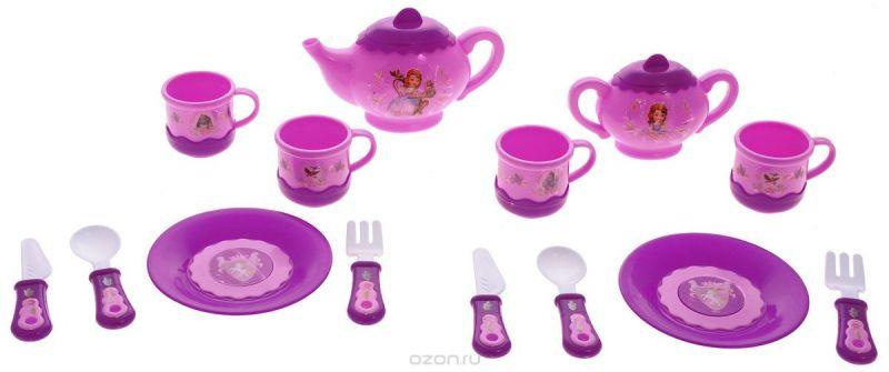 Играем вместе Набор посуды София Прекрасная 14 предметов