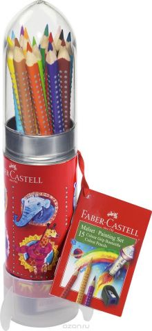 Faber-Castell Цветные карандаши Grip Ракета 15 цветов