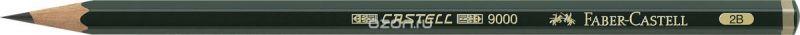 Faber-Castell Карандаш чернографитный Castell 9000 твердость 2B