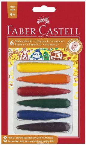Faber-Castell Мелки цветные для дошкольного возраста 6 цветов